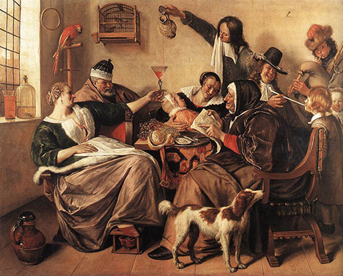 'The way you hear it, is the way you sing it.' Jan Steen, circa 1665.