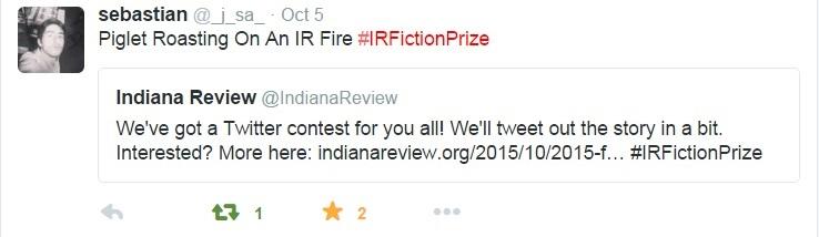 IR 2015 Fiction Twitter Contest Winner
